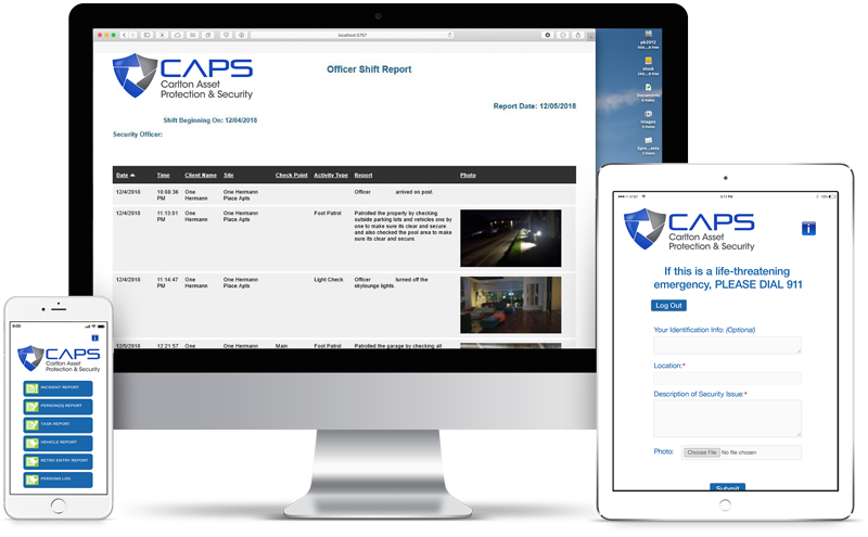 CAPS multiple screens